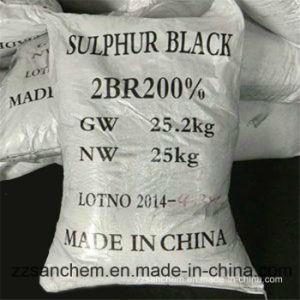 Zwarte 240% van de zwavel voor Garen, Textiel, Kledingstuk