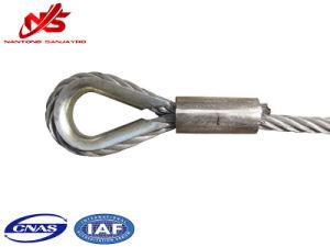 As amarras de cabos de aço galvanizado 6X19+FC