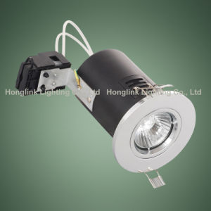 IndoorのためのクロムGU10 Recessed Ceiling Fire Rated LED Downlight
