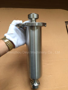 Estremità di filetto in-linea sanitaria del filtrante dell'acciaio inossidabile
