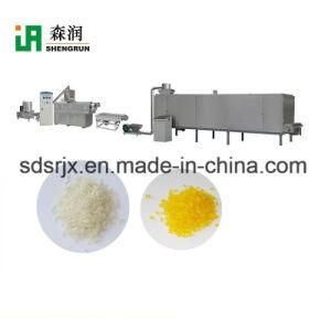 Refrigeración por agua Twin-Screw extrusora de la producción de arroz artificial