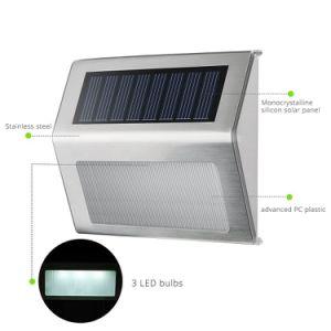 屋外の太陽ライトステンレス鋼の無線機密保護太陽階段ライト2LED太陽ランプ