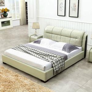 Confortable lit King Size chambre à coucher Mobilier de cuir synthétique