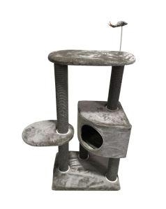 Fácil de fixar a tampa da Placa lavável sólida e Cat Tree