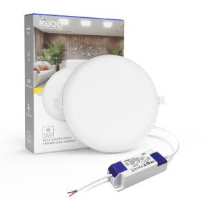 Controlador Lifud inteligente integrado regulable sin cerco Lámpara de techo de la luz de panel LED 18W