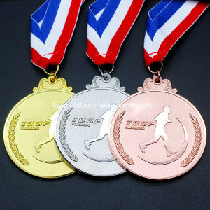 주문을 받아서 만들어진 금속 금 은과 구리 스포츠 포상 메달