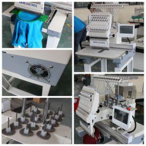 単一ヘッド15カラー3D帽子のTシャツの平らな刺繍のための高速コンピュータ化された刺繍機械