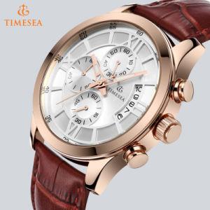 b2117ec563f Custom Cronógrafo Rose banhado a ouro relógio de pulso para homens72653