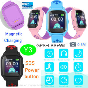 2019新しいIP67はGPS/Lbs/WiFi Y3のGPSの追跡者の腕時計を防水する