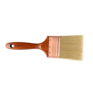 Hölzerner Griff mit Qualitäts-weiße Borsten überzogenem Messinglack-Pinsel 3