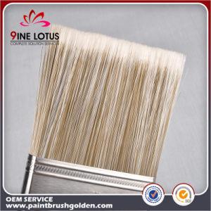 Qualität weiche PBT&Pet materielle doppelte Farben-hölzerner Griff-Lack-Pinsel