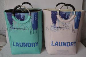 Cesta de Lavandaria dobrável, grande saco de arrumação de lavar roupa permanente