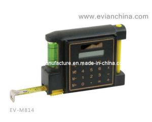 Cinta métrica de acero con el nivel, calculadora y Bolígrafo (EV-M814)