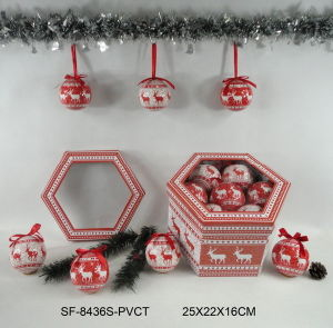 Bola de Navidad con el patrón