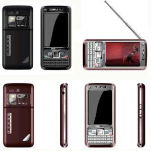 Telefono mobile standby SIM della carta doppia di analogia TV (C1000)