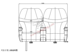 Assentos de Carro Luxuosos de Ônibus (F22-3)