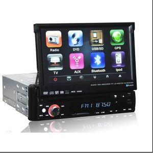 1 DIN 7 인치 접촉 스크린 Bluetooth GPS DVD 플레이어