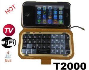 Het Toetsenbord van Qwerty van de Vorm van de Telefoon van TV WiFi van Java van Dapeng (T2000)