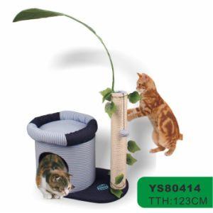 現代猫の木、球(YS77330)が付いているおかしい猫のおもちゃ