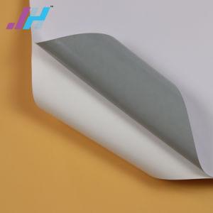 A mídia de impressão digital em PVC branco brilhante Vinil auto-adesiva