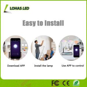 Amazônia Alexa WiFi controlada Lâmpada LED inteligente funciona com Tuya APP/Google Home Br30 10W RGBW lâmpada LED