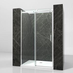 Venda por grosso da Estrutura de alumínio com vidro temperado 8 mm de banho chuveiro porta corrediça