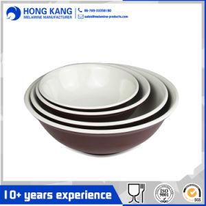 Logo personnalisé écologique Bicolor bol de nouilles de vaisselle en mélamine
