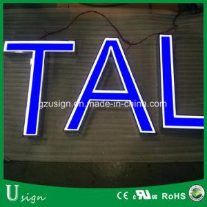 Бизнес-Adbertising светится 3D Знак из нержавеющей стали и алюминия изготовить светодиод красный знак алфавит канал письмо Custom открыть неоновыми подписать