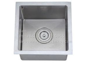 Acero inoxidable bajo el Monte solo Bowl Handmade Bar Sink
