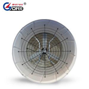 Blad 3 van het aluminium Ventilator de Met constante snelheid van de Ventilatie van de Aandrijving van de Elektrische Motor van de Fase voor het Landbouwbedrijf van Varkens/het Landbouwbedrijf van het Gevogelte