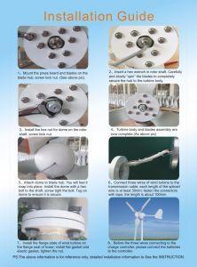 Generatore di turbina a magnete permanente orizzontale del vento di 700W 24V da vendere