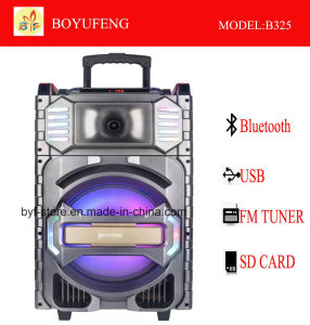 건전지 Bluetooth (B325)를 가진 직업적인 휴대용 (트롤리) 스피커