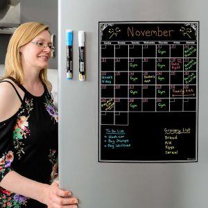 冷却装置またはオフィス17  X 13 のインチのための磁気月例カレンダの白板の立案者