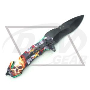 4.9 Primavera Zombie Fatasy cerrado asistida cuchillo con mango de alumbre de impresión 3D: 5PZ4-50gd