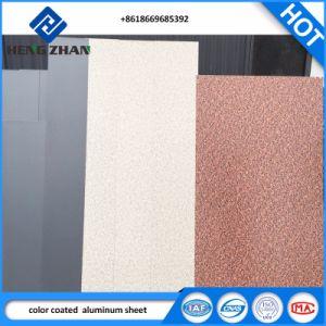 met een laag bedekt/de Vooraf geverfte Kleur van 1100, van 3003 H24 PE/PVDF het In reliëf gemaakte Blad/de Rol van het Aluminium voor Samengesteld Comité ACS en het Materiaal van het Dakwerk van het Metaal