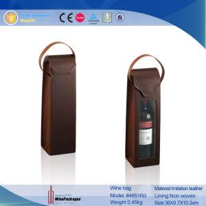 1 sacchetto di cuoio del vino della bottiglia con la maniglia (4851R2)