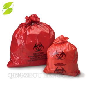 Papelera de reciclaje de residuos de plástico biológico bolsas camisas bolsas de basura médica
