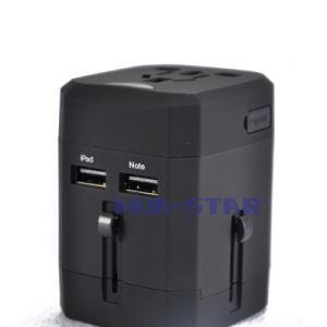 Cargador de viaje global con puerto USB para regalos promocionales (HS-T107DU)
