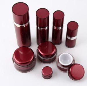 赤く装飾的な包装Set6アクリルのクリーム色の瓶のローションのびん(PPC-CPS-045)