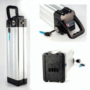 Pilha de lítio tipo peixe Siver células 18650 48V 12AH e uma bicicleta elétrica da bateria aluguer de Bateria