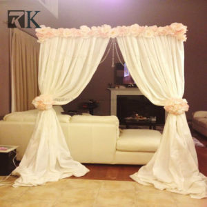 Rk drapieren populäres Hintergrund-Rohr und für Hochzeits-Foto-Stand
