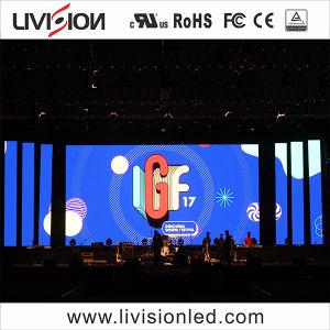Palco de eventos no interior de parede LED de vídeo de alta qualidade do Ecrã P4.81mm tela LED de vídeo