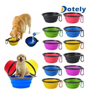 携帯用旅行食糧及び水ボールの皿のための折りたたみFoldable飼い犬ボール