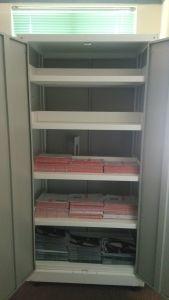 O armário metálico do Tombador Armário para escritório com a SGS