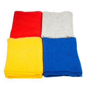 Sciarpa di inverno di colore solido della signora Fashion Acrylic Knitted