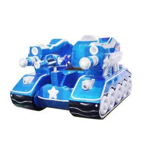 Parque de diversões para crianças dos pais eléctrico LED coloridos carro pára-choques do Tanque