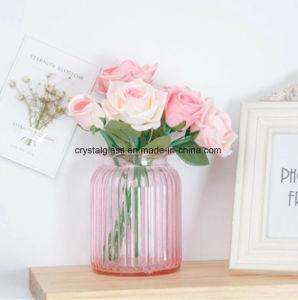 Coloré Vase en verre à col large