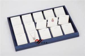 15 شقّ مكان زرقاء مع أبيض [بو] جلد عقد مدلّاة مجوهرات حامل حامل قفص حامل مجوهرات صيغية