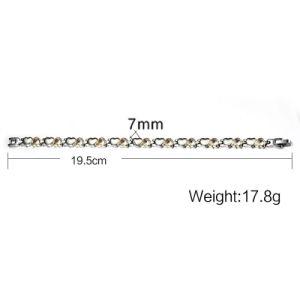 B08-, magnetisches Titangermanium-Edelstahl-Armband