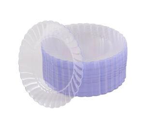 6 ronde en plastique transparent à usage unique/7/9/10 Les plaques de Buffet